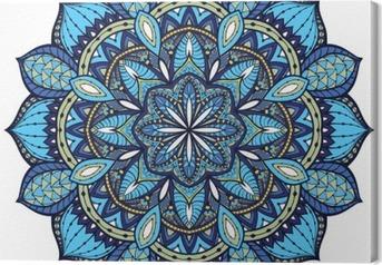 Canvas Vector, elegant mandala, met ingewikkelde details.