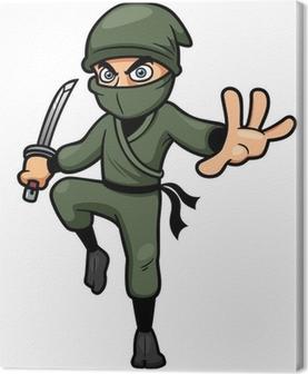 Canvas Vector illustratie van Cartoon Ninja