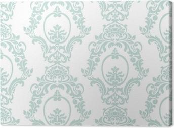 Canvas Vector vintage damast patroon ornament keizerlijke stijl. sierlijk bloemenelement voor stof, textiel, ontwerp, trouwkaarten, wenskaarten, behang. opaal blauwe kleur