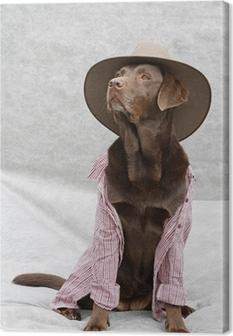 Canvas Verkleideter Labrador