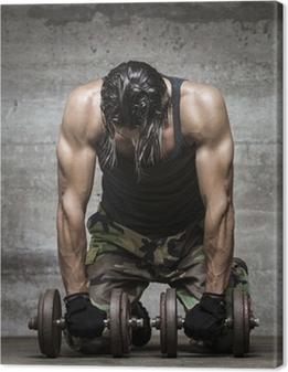 Canvas Vermoeide spieren atleet
