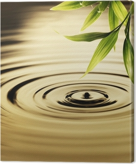 Canvas Verse bamboe bladeren over water