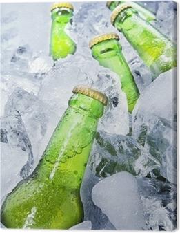 Canvas Verse bierflessen op ijs