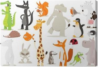 Canvas Verzameling d'animaux pour enfants
