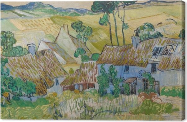 Canvas Vincent van Gogh - Boerderijen in de buurt van Auvers - Reproductions