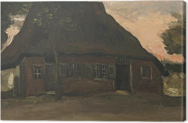 Canvas Vincent van Gogh - Boerenhuis, Nuenen - Reproductions
