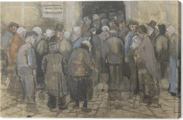 Canvas Vincent van Gogh - De armen en het geld - Reproductions