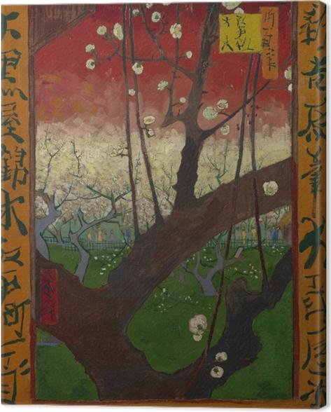 Canvas Vincent van Gogh - De bloeiende pruimenboom - Reproductions