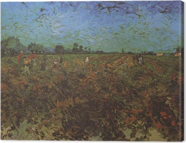 Canvas Vincent van Gogh - De groene wijngaard - Reproductions