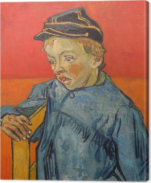 Canvas Vincent van Gogh - De schooljongen Camille Roulin - Reproductions