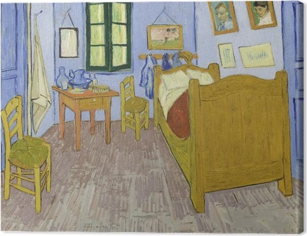 Canvas Vincent van Gogh - De slaapkamer (te Arles) - Reproductions