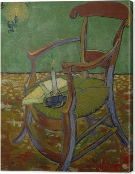 Canvas Vincent van Gogh - De stoel van Gauguin - Reproductions