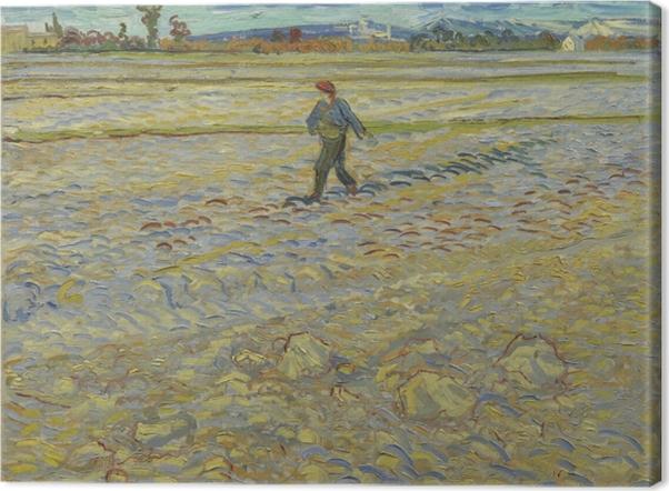 Canvas Vincent van Gogh - De zaaier - Reproductions