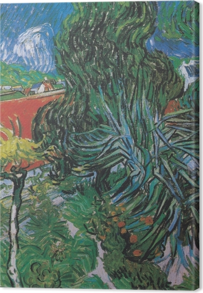 Canvas Vincent van Gogh - Dokter Gachet`s tuin in Auvers - Reproductions