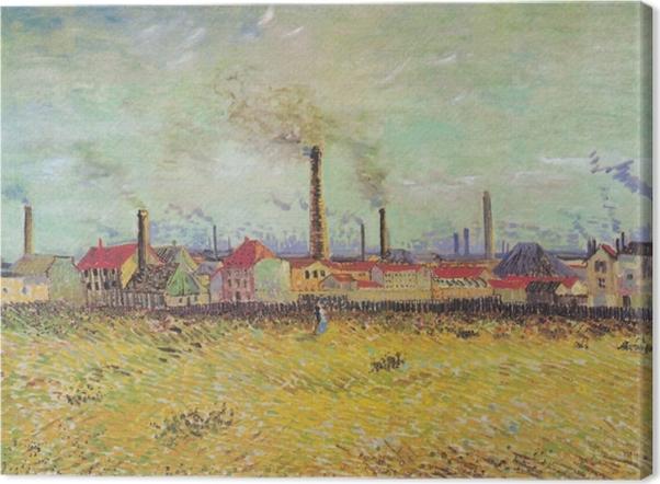 Canvas Vincent van Gogh - Fabrieken te Asnieres Vanuit de Quai de Clichy - Reproductions