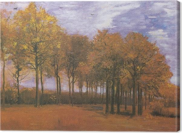 Canvas Vincent van Gogh - Herfstlandschap - Reproductions