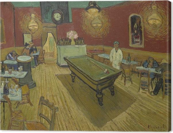 Canvas Vincent van Gogh - Het nachtcafé - Reproductions