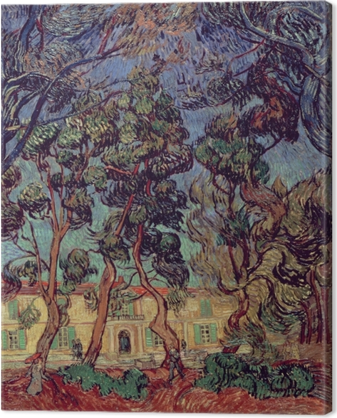 Canvas Vincent van Gogh - Het ziekenhuis in Saint-Remy - Reproductions