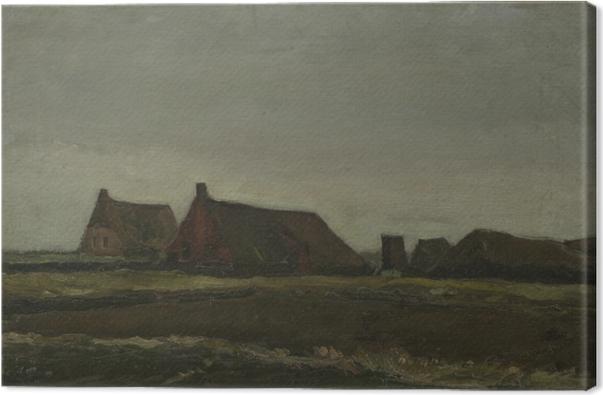 Canvas Vincent van Gogh - Hutten - Reproductions