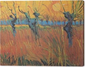 Canvas Vincent van Gogh - Knotwilgen bij ondergaande zon