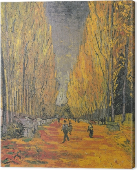 Canvas Vincent van Gogh - Les Alyscamps, een laan in Arles - Reproductions