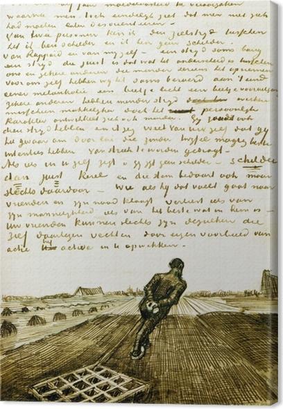 Canvas Vincent van Gogh - Man trekkend een eg - Reproductions