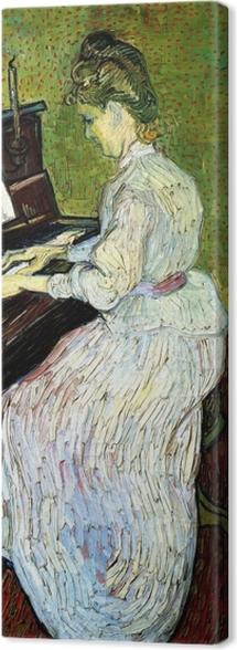 Canvas Vincent van Gogh - Marguerite Gachet aan de piano - Reproductions