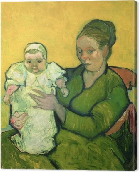 Canvas Vincent van Gogh - Mevrouw Roulin met haar kind Marcelle - Reproductions