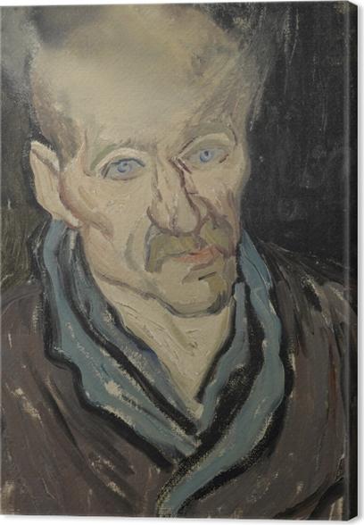 Canvas Vincent van Gogh - Portret van een man (Een medepatiënt in de inrichting van Saint-Rémy) - Reproductions
