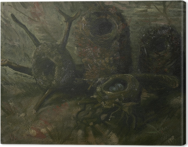 Canvas Vincent van Gogh - Vogelnesten - Reproductions