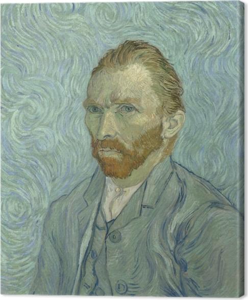 Canvas Vincent van Gogh - Zelfportret - Reproductions