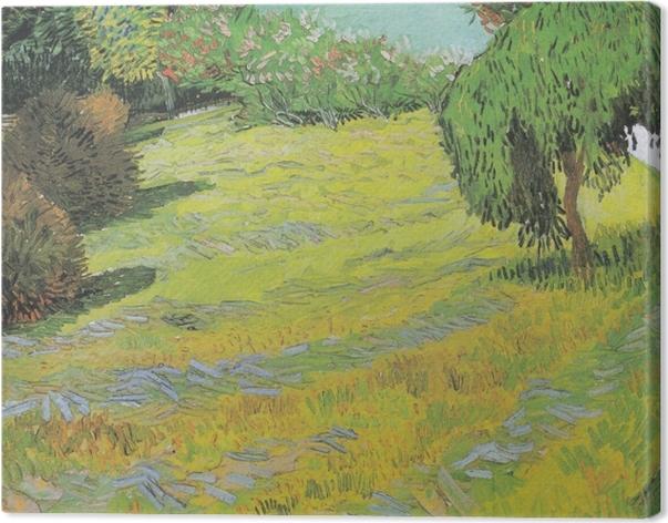 Canvas Vincent van Gogh - Zonnig gazon in een park - Reproductions