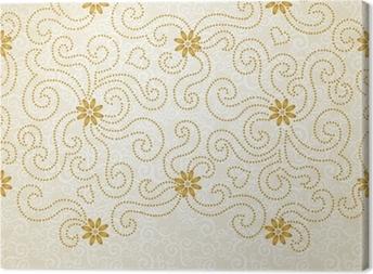 Canvas Vintage naadloze grens met kanten versiering.