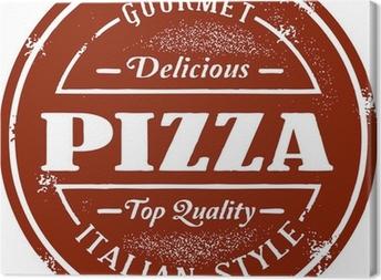 Canvas Vintage Pizza Stamp