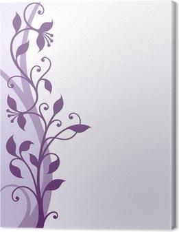 Canvas Violette bloemen