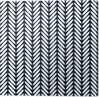 Canvas Visgraat klassieke naadloze patroon vector