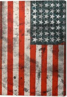Canvas Vlag van de VS (Verenigde Staten van Amerika)