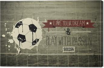 Canvas Voetbal typografie citaat