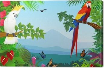 Canvas Vogel in het mooie bos