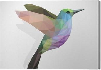 Canvas Vogel / kleurrijk kolibrie