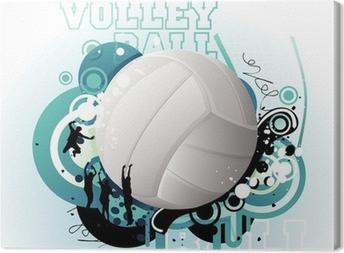 Canvas Volleybal vector