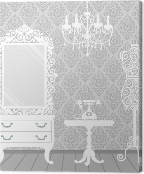 Canvas Vrouw kamer in vintage, boudoir stijl • Pixers® - We leven om ...