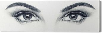 Canvas Vrouw ogen