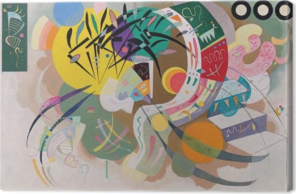 Canvas Wassily Kandinsky - De overheersende cirkelvorm - Reproducties