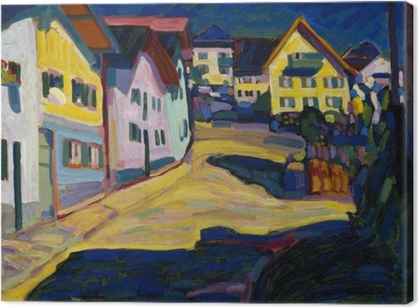 Canvas Wassily Kandinsky - Murnau, Burggrabenstrasse - Reproducties