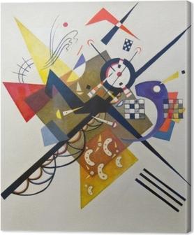 Canvas Wassily Kandinsky - Op wit II