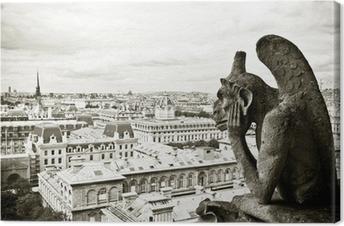 Canvas Waterspuwer Notre-Dame de Paris