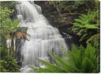 Canvas Waterval van het regenwoud