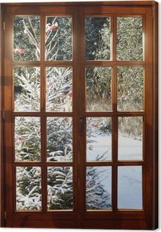 Canvas Weichnachten in de sneeuw
