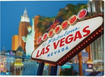 Canvas Welcome To Las Vegas neon teken